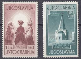 JUGOSLAVIA - 1941 - Lotto Composto Da 2 Valori Usati/nuovi Senza Gomma: Yvert 390/391. - Gebraucht