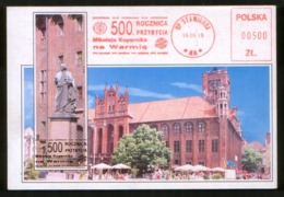 Astronomy Poland 1995 Pc Meter Stamp 500 Anniversary Of Nicolaus Copernicus, Stawiguda - Astronomie