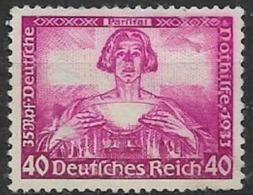 GERMANIA REICH TERZO REICH 1933 OPERE MUSICALI DI WAGNER UNIF.478 MNH SENZA GOMMA VF - Usados