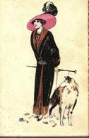 CPA BELGIQUE 1913 - FANTAISIE, BELLE ET ELEGANTE - - Mode