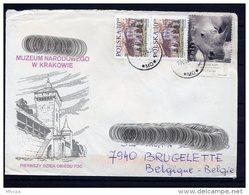 Lil3AC70 POLOGNE Lettre 2006 Pour Brugelette Belgique Affr. Multiple Rhinoceros - 1944-.... Republic