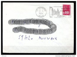 Lil3AD35 Meuse 55 Commercy Secap O= Son Château Ses Promenade/ Lettre 10/07/76 - Postmark Collection (Covers)