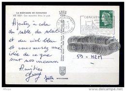Lil3AD40 Sud Finistère 29 S Concarneau Secap 0= Grand Port De Pêche ....../ CP 27/07/72 - Storia Postale