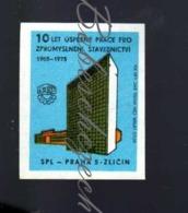 L2-175 CZECHOSLOVAKIA  1975 SPL Praha 5 Zlicin - 10 Years Conception Of Construction - Headquarters - Matchbox Labels