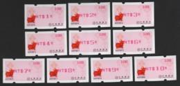2019 Taiwan R.O.CHINA - ATM Frama - Rich Pig #108(red Imprint $1~$10) - ATM - Frama (labels)