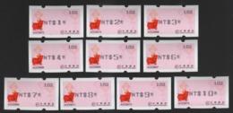 2019 Taiwan R.O.CHINA - ATM Frama - Rich Pig #102(black Imprint $1~$10) - ATM - Frama (labels)