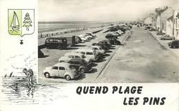 """/ CPSM FRANCE 80 """"Quend Plage Les Pins, La Terrasse Maritime"""" / AUTOMOBILE - Autres Communes"""