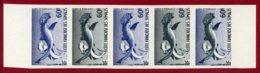 Somali Coast 1959 #282, Color Proof Stripe Of 5, Hammerhead Shark, Fish - Côte Française Des Somalis (1894-1967)