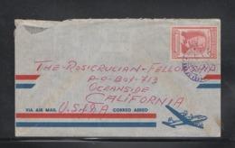 Cover Costa Rica To USA 1957 Scarce - Costa Rica