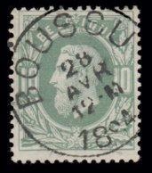 """COB N° 30  - Obl. """"CONCOURS"""" - BOUSSU - 1869-1883 Leopold II"""