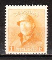 175**  Roi Albert Casqué - Bonne Valeur - MNH** - COB 120 - Vendu à 13.50% Du COB!!!! - 1919-1920 Behelmter König