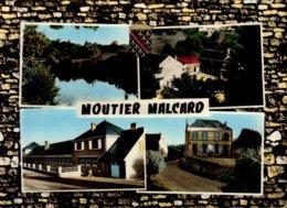 23-MOUTIER-MALCARD...L'ETANG,LA FILATURE,LES ECOLES,LA MAIRIE...4 VUES....CPSM GRAND FORMAT - Otros Municipios