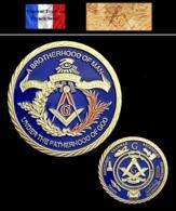 1 Pièce Plaquée OR ( GOLD Plated Coin ) - Franc Maçon Freemason Masonic ( Ref 4 ) - Münzen