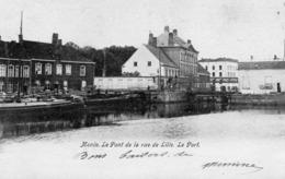 Menin. Le Pont De La Rue De Lille. Le Port. - Menen