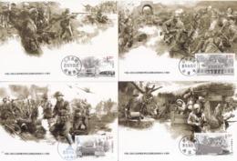 CHINA 2015-20 70th Victory War Resistance Aggression Anti-Fascist Stamp Maxcards(MC-108) - 1949 - ... Repubblica Popolare