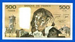 500 Fr  Du  3/2/1977 - 500 F 1968-1993 ''Pascal''