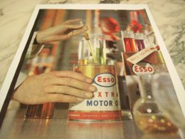 ANCIENNE PUBLICITE EXTRA OIL ESSO  1961 - Other