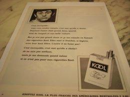 ANCIENNE PUBLICITE  CIGARETTE KOOL 1966 - Raucherutensilien (ausser Tabak)