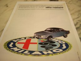 ANCIENNE PUBLICITE VOITURE   ALFA ROMEO 1966 - Cars