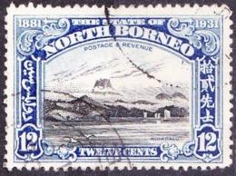 NORTH BORNEO 1931 12c Black & Ultramarine SG298 Used - Borneo Del Nord (...-1963)