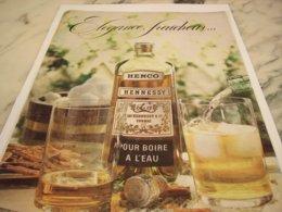 ANCIENNE PUBLICITE ELEGANCE FRAICHEUR COGNAC HENNESSY 1966 - Alcohols