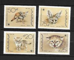 YEMEN 1989  WWF-CHAT DES SABLES  YVERT N°343/46  NEUF MNH** - Nuovi