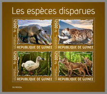 GUINEA REP. 2019 MNH Extinct Species Ausgestorbene Tiere Especes Disparues M/S - OFFICIAL ISSUE - DH1940 - Postzegels