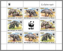 NIGER 2019 MNH Hyaena Hyaena WWF Hyena Hyäne Hyene Overprint GOLD M/S II - OFFICIAL ISSUE - DH1940 - Nuovi