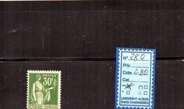FRANCE CHARNIÈRE - N° 280 - 1932-39 Paz