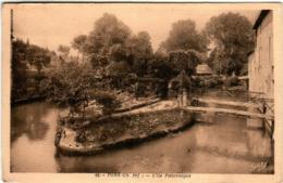 61li 54 CPA - PONS - L'ILE PITTORESQUE - Pons
