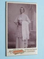 Pater Prètre Priester Father Priest Curé Vicaire Bisshop Père Pastoor Kanunnik ( CDV Photo EMILE MORREN Louvain ) - Antiche (ante 1900)