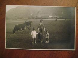 1926 TREMOSINE BRESCIA DONNA BAMBINI MUCCHE COWS VACHES - Altre Città