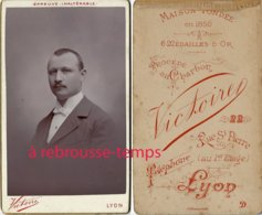 CDV Beau Portrait D'homme-bel état-photo Victoire à Lyon - Photographs