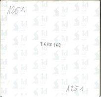 I.D. - Blocs 148x140 Fond Noir (double Soudure) - Bandes Cristal