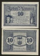 Notgeld Bunzlau 10 Pf 1920 - [11] Lokale Uitgaven