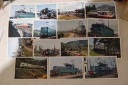 TRAINS ☺♦♦ LOT De 15 CARTES De TRAIN TOUTES VISIBLES EN DETAIL Avec DOS < AUTORAIL  LOCOMOTIVE  CHEMIN De FER - 5 - 99 Karten