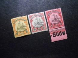 D.R.15/17/19  25Pf**MNH/ 40Pf*MLH/ 80Pf**MNH - Deutsche Kolonien (Deutsch-Südwestafrika) - 1901 - Mi 17,20 € - Colony: German South West Africa