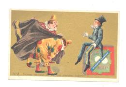 "Chromo Publicitaire -Biscuits  "" GEORGES  "" Clowns, Clown, Cirque,...  (b265) - Chromos"