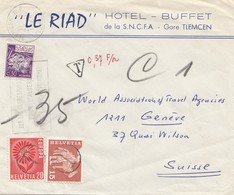 French Colonies: Algerie: Tlemcen 1965 To Switzerland Genf - Taxe - Algeria (1962-...)