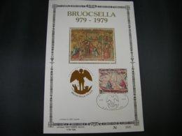 BELG.1979 1936 FS Soie 1er Jour Tirage 500 Millénaire De Bruxelles Tapisseries Bateau - 1971-80