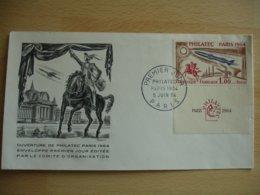 Philatec 1964 Avec Vignette Fdc Enveloppe 1 Er Jour - FDC