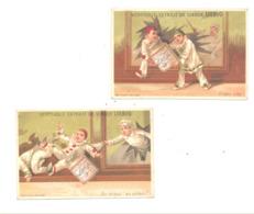 """Chromo Publicitaire - Lot De 2 Pcs - Extrait De Viande """" LIEBIG """" Voleur, Fin XIX E (b265) - Trade Cards"""