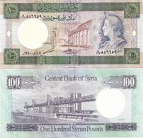 SYRIA       100 S. Pounds       P-104d       1990 / AH1411         UNC - Siria