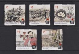 Australia 2016 Centenary Of World War I Set Of 5 Self-adhesives Used - - 2010-... Elizabeth II