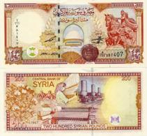 SYRIA       200 S. Pounds       P-109       1997 / AH1418         UNC - Siria