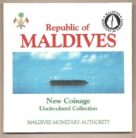 Maldive - New Coinage Uncirculated Collection Mint Set - 1984 - Maldivas
