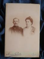 Photo Cabinet Marius Bar à Toulon - Portrait Couple, Homme Militaire Officier 8 E RIM  Circa 1895 L469 - Photos