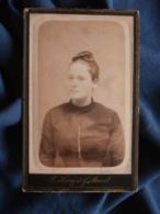Photo CDV Henry Et Maurel à Toulon - Portrait Femme Au Chignon Circa 1885-90 L469 - Photos