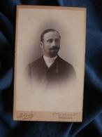 Photo CDV B. Gerby à Toulon - Portrait Nuage Homme Chemise Avec Faux Col Circa 1890-95 L469 - Photos
