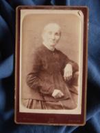 Photo CDV B. Barbot à Toulon - Vieille Femme Circa 1885 L469 - Photos